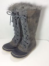 I wish they still made these! They would be my perfect heavy snow boot!  Sorel Cate the Great Gray Winter Boots 7