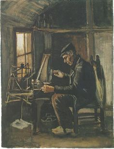 Man Winding Yarn Nuenen: May-June, 1884  (Amsterdam, Van Gogh Museum)