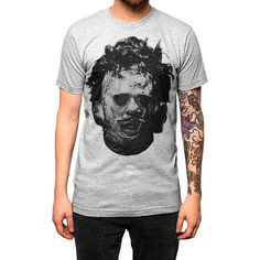 e19a898f9008 This Texas Chainsaw Massacre inspired design features a hand drawn portrait  of the infamous Leatherface.