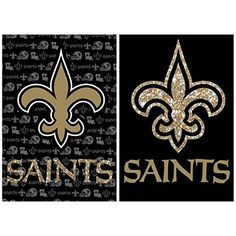 NFL 2Sided Vertical Flag Size 43 H x 29 W NFL Team New Orleans Saints -- More info could be found at the image url.