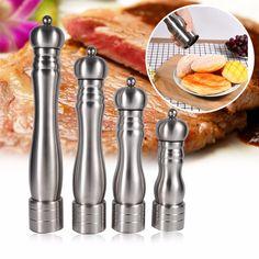 Restaurant Kitchen Manual 2 pcs stainless steel manual salt pepper mill grinder seasoning