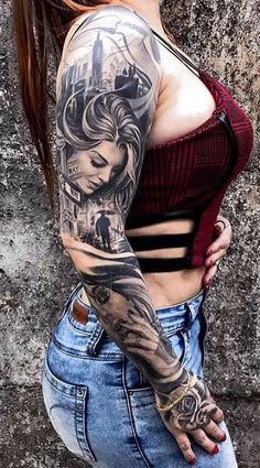 Sleeve and Hand Tattoos . Sleeve and Hand Tattoos . Pin by Samra Says On Tattoo Ideas 3 Gangster Tattoos, Dope Tattoos, Hand Tattoos, Wicked Tattoos, Badass Tattoos, Trendy Tattoos, Body Art Tattoos, Tattoos For Guys, Awesome Tattoos