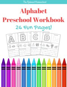 Amazing FREEBIE for your preschooler! 26 page ABC workbook. Great for practice work or morning work! Free printable worksheets!