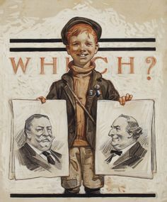 Joseph Christian Leyendecker (1874-1951) Which? signed with conjoined initials 'JCLeyendecker' (lower right) oil and pencil on canvas 24 1/4 x 20 1/4 (61.6 x 51.4 cm.) Painted circa 1908.