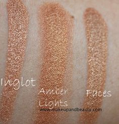 inglot rs620 mac amberlights, faces eyeshadow