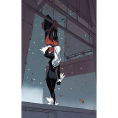 Into the Marvel-Verse Spiderman Black Cat, Black Cat Marvel, Spiderman Art, Amazing Spiderman, Marvel Comics, Comics Anime, Marvel Vs, Marvel Heroes, Spider Men