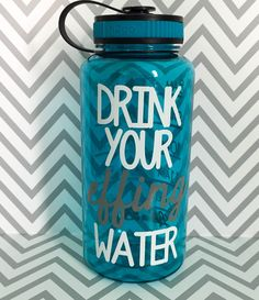 Water Bottle Workout, Monogram Stockings, Personalized Water Bottles, Stocking Stuffers, Drinks, Sports, Etsy, Custom Water Bottles, Drinking