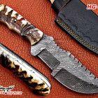 WONDERFUL DAMASCUS HANDMADE FULL TANG HUNTING TRACKER KNIFE HG-738 Hunting Knives, Damascus Steel, Kitchen Knives, Handmade, Hand Made, Handarbeit
