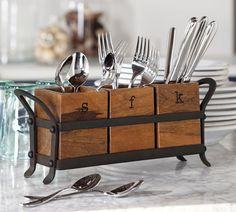 This is one silverware organizer you won't be feel like you need to hide deep in a drawer.