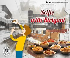 Take selfie with your favourite THALAPPAKATTI RESTAURANT and share the happiness with all.   www.thalappakatti.com | 044-26194300/26194200  #Food #foodie #Thalappakatti #Chicken #Fish #Egg #Mutton #Restaurant