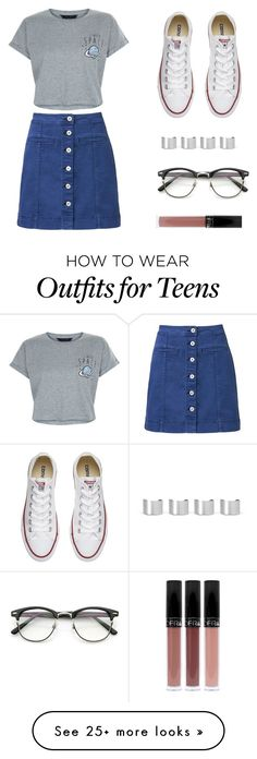 """""""Untitled #456"""" by deborasilva02 on Polyvore featuring Witchery, New Look, Converse, Maison Margiela and ZeroUV"""
