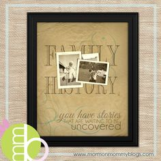 Free Family History Printable - you have stories that are waiting to be uncovered.