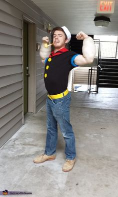 Popeye and Olive Oyl - Halloween Costume Contest via @costume_works