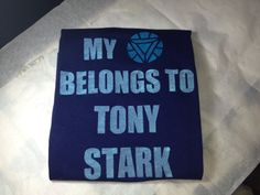 My heart belongs to Tony Stark babydoll via Etsy