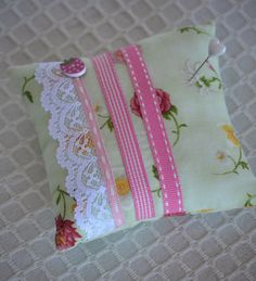 Your place to buy and sell all things handmade Lace Ribbon, Pin Cushions, Floral Lace, Coin Purse, Strawberry, Free Shipping, Button, Sewing, Pretty