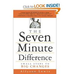 Book #33 of 2012: The Seven Minute Difference: Small Steps to Big Changes - Looking forward to getting this on under my belt. It isn't too long, but it was recommended by a friend because it has a few jewels to get me fired up.    Readers are leaders!