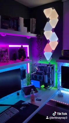Gamer Setup, Gaming Room Setup, Pc Setup, Cool Gaming Setups, Laptop Gaming Setup, Best Gaming Setup, Computer Gaming Room, Computer Desk Setup, Bedroom Setup
