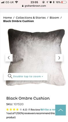 Black Ombre, Home Collections, Throw Pillows, Toss Pillows, Cushions, Decorative Pillows, Decor Pillows, Scatter Cushions