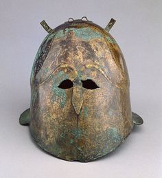 Helmet  Greek, South Italy, 400 - 375 B.C.   Bronze    The J. Paul Getty Museum