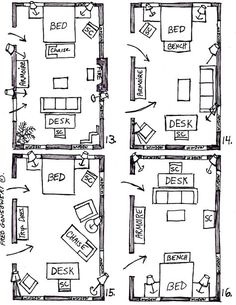 arranging furniture in a 15 foot wide by 25 foot long bedroom - Bedroom Furniture Layout