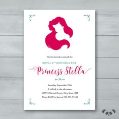 Little Mermaid Birthday Party Invitation    by PandafunkCreations