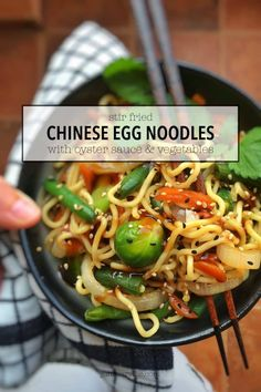 Stir Fried Chinese Egg Noodles with Oyster Sauce