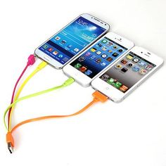 20cm Four in One Data Transfer and Charge Cable for iPhone4 / 4S / 5 / S / 5C Samsung Galaxy Note 3 Nokia , HTC , LG Blackberry , Sony etc (...
