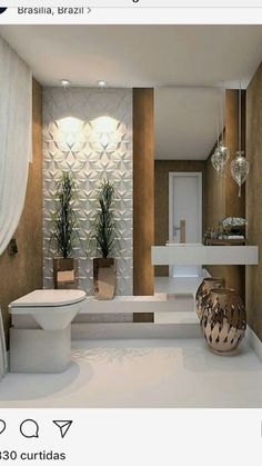 This Is How To Remodel Your Small Bathroom Efficiently, Inexpensively Small Half Bathrooms, Small Half Baths, Master Bathrooms, Modern Bathroom Design, Bathroom Interior Design, Interior Design Living Room, Interior Paint, Modern Bathrooms, Bathroom Designs
