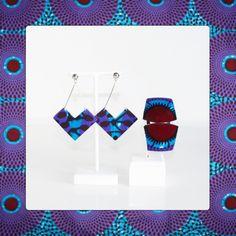 Ensemble boucles d'oreilles et bracelet fin en wax