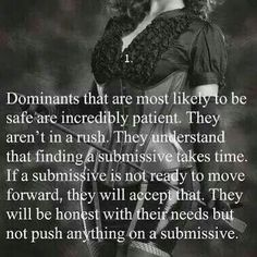 """princesslittlefoxx: """"whips—n—chains: """"ginnabelle: """"whips—n—chains: """"Absolutely! If he demands you relent, submit, and give yourself to him early on, run the other way! A true dominant heart and mind understands that when a submissive is ready, she. Mistress Quotes, Dominant Master, Dominant Quotes, Submissive Wife, Dom And Subs, Kinky Quotes, To Move Forward, Dominatrix, Sayings"""