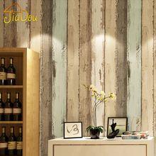 Moderno Padrão de Madeira Do Vintage Listrado Fibra Não-tecido Rolo De Papel de parede 3D Para sala de estar Quarto Papel De Parede Foto Casa decoração(China (Mainland))