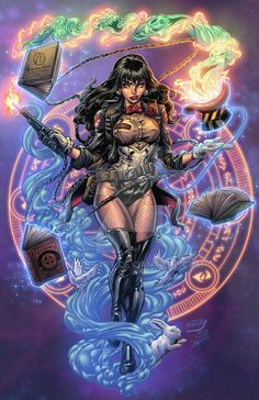 Zatanna from The DC Comic Universe. Comic Book Girl, Comic Books Art, Comic Art, Zatanna Dc Comics, Arte Dc Comics, Female Comic Characters, Dc Comics Characters, Comics Und Cartoons, Dc Comics Girls