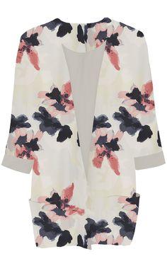 Second Female Bloom Kimono Navy LightPeach - Isa Couture