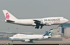 B-KAA Dragonair Boeing freighter Dragonair, Cathay Pacific, Cargo Airlines, Boeing 747, Private Jet, Aviation, Aircraft, History, Airplanes