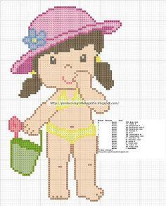 Artes e bordados da Sol: Gráficos de meninas
