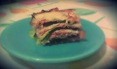 lasagne di zucchine, prosciutto cotto e mozzarella