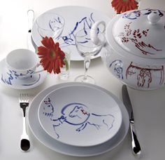 Wedding service created by Marc Chagall for his daughter.   -this is so amazing I could cry