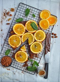 Chocolate Brownie Cake with Oranges - Top Food Facts