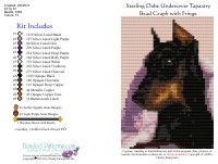 Doberman Undercover Tapestry Bead Graph
