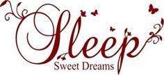 Sleep sweet dreams wall art sticker decal