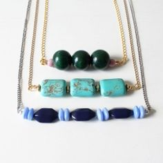 Use up leftover beads and whip up a bunch of cute, versatile necklaces for spring!