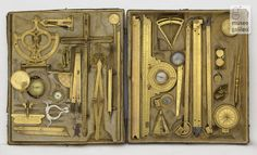 Box of mathematical instruments, Christoph Schissler - Germany - late cent. Antique Tools, Old Tools, Woodworking Projects Plans, Woodworking Tools, Drafting Tools, Tool Storage, 16th Century, Tool Design, Tool Box