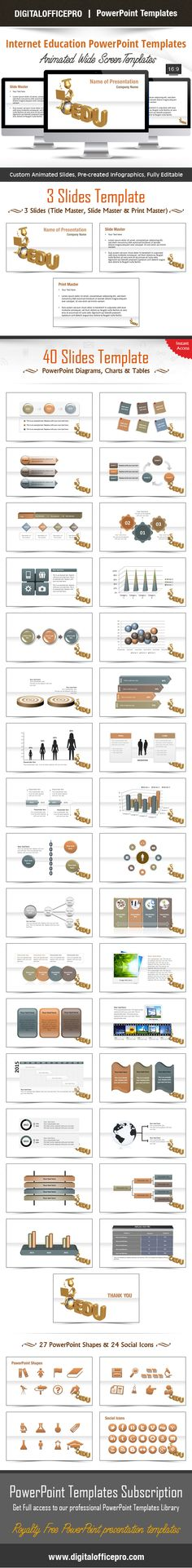 Impress and Engage your audience with Internet Education PowerPoint Template and Internet Education PowerPoint Backgrounds from DigitalOfficePro. Each template comes with a set of PowerPoint Diagrams, Charts & Shapes and are available for instant download.