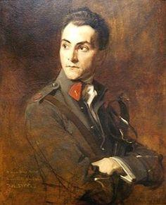 "Portrait of Adam Styka, Paris, 1916 by Polish painter Tadeusz ""Tade"" Styka"