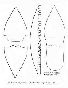 paper shoe template  Die Anleitung dazu gibt es auf  http://artfulaffirmations.blogspot.de/p/free-video-tutorials.html