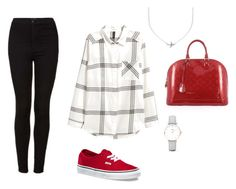 """""""Upward Arrow Line Outfit"""" by astrupp on Polyvore featuring Topshop, Vans, Louis Vuitton, CLUSE and Minnie Grace"""