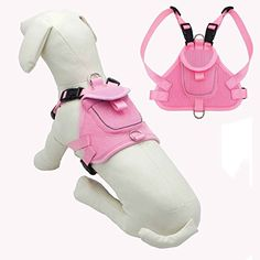 Dog Backpacks - Wellbro Fashional Durable No Pull Dog Harness Backpack Pet Padded Harness Leash Attachment Soft Breathable and Adjustable Fits to Small Medium Dogs L Pink >>> Click image to review more details. (This is an Amazon affiliate link)
