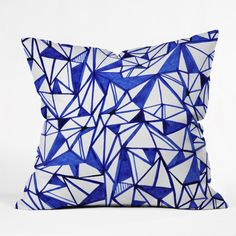 CayenaBlanca Geometric tension Throw Pillow | DENY Designs Home Accessories