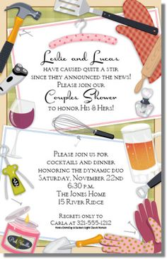 His And Her Shower Invitation Couples Shower Invitation Custom