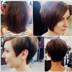 Sarah chose #hairbyphdcarlingford to help her makeover her look with this choppy, spliced asymmetrical cut - and what a fantastic change it is! #hairbyphd #chopchopchop #bobclub #brunette #asymmetrical #hair #hairdresser #hairstyle #haircut #parramatta #carlingford #nsw #sydney